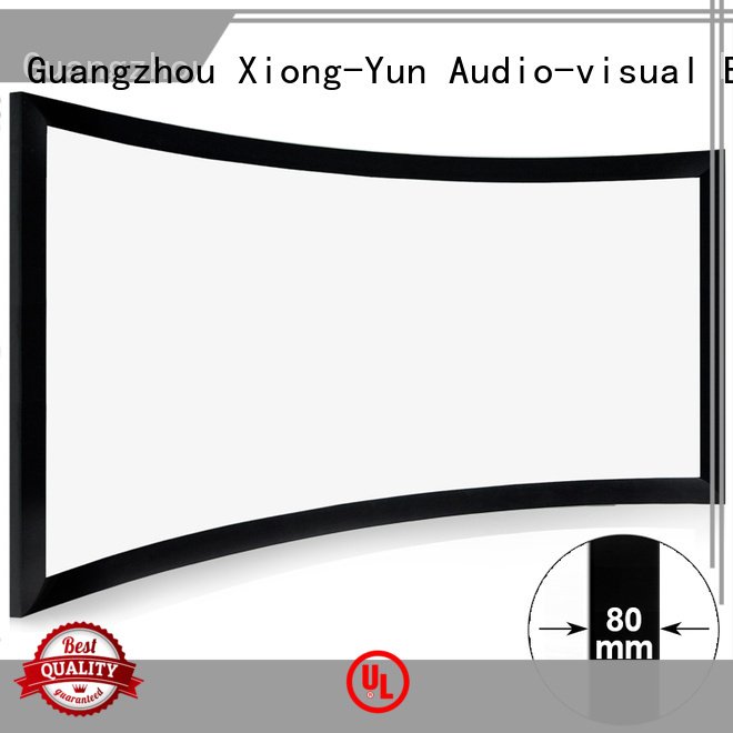 movie screen thin series XY Screens Brand home entertainment center supplier