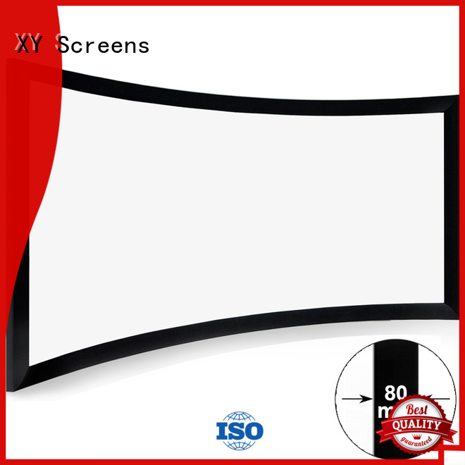 XY Screens slim curved projector screen wholesale for household