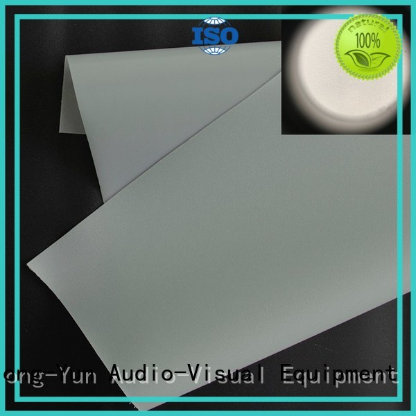 Front and rear portable projector screen pvc fabric projector screen fabric manufacture