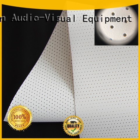 acoustic fabric 4k transparent OEM Acoustically Transparent Fabrics XY Screens