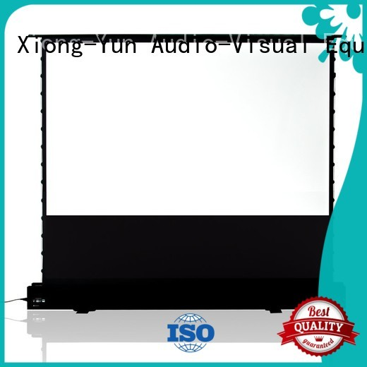 XY Screens manual portable pull up projector screen factory for household
