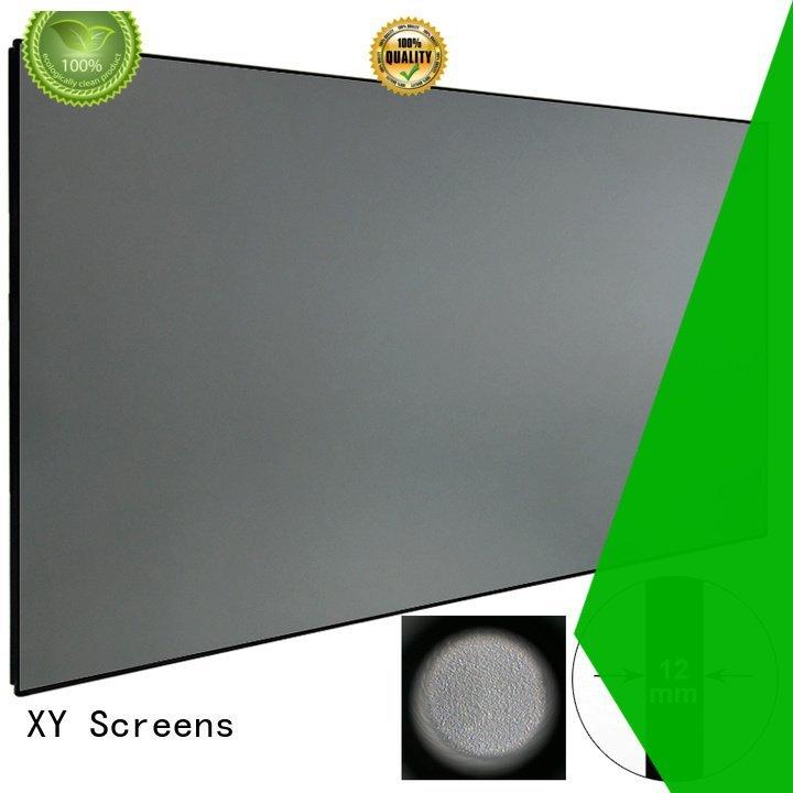 XY Screens ambient rejecting slim ambient light projector screen bezel