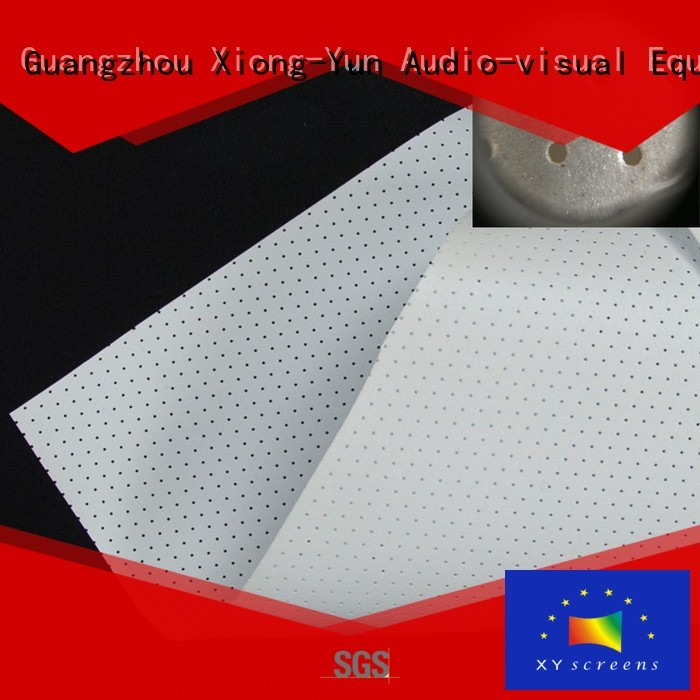 XY Screens acoustically acoustic absorbing fabric manufacturer for fixed frame projection screen