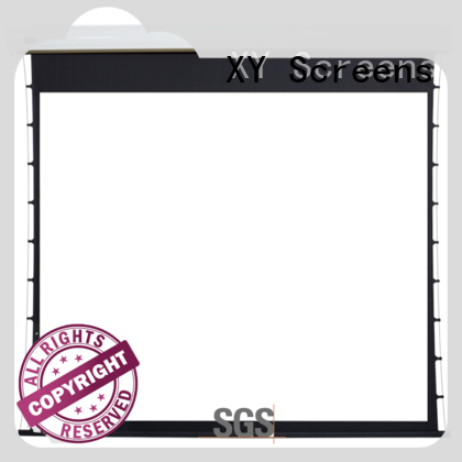 retractable motorized projector screen personalized for indoors