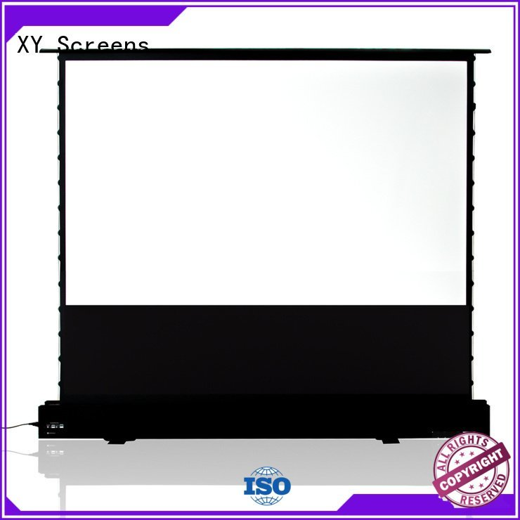 pull rising pull up projector screen floor XY Screens