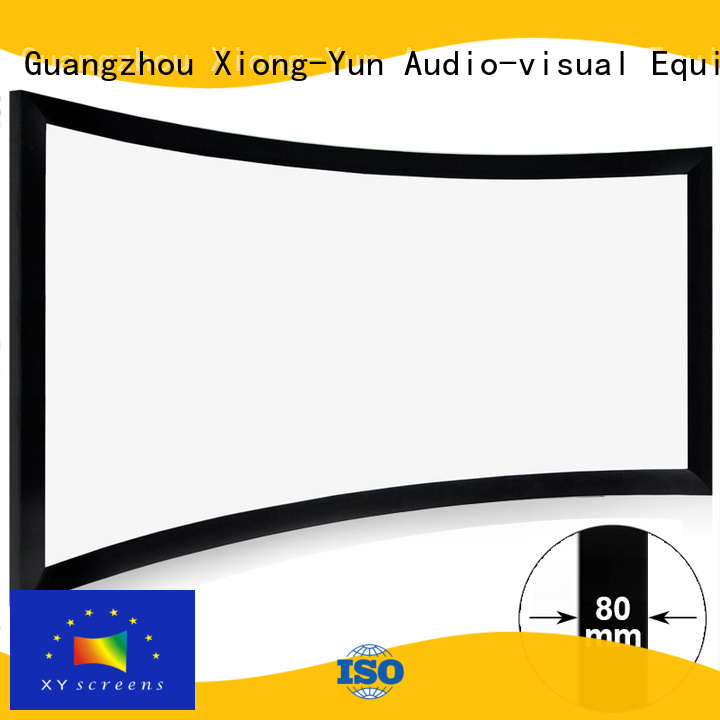 XY Screens Home Entertainment Curved Projector Screens wholesale for home cinema