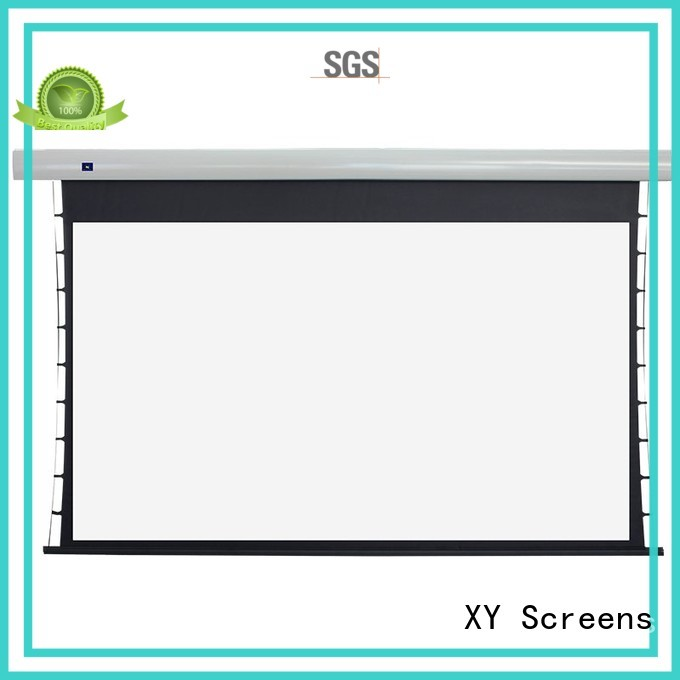 motorized tab tensioned electric projector screen ec2 XY Screens company