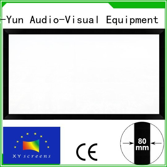 OEM cheap movie projector frame hk80b inch movie projector screen