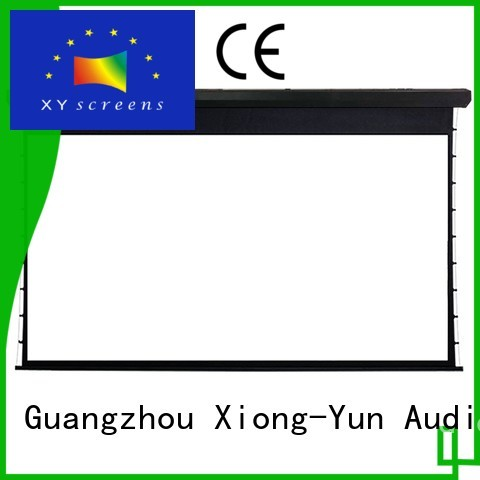 motorized project large portable projector screen series XY Screens company