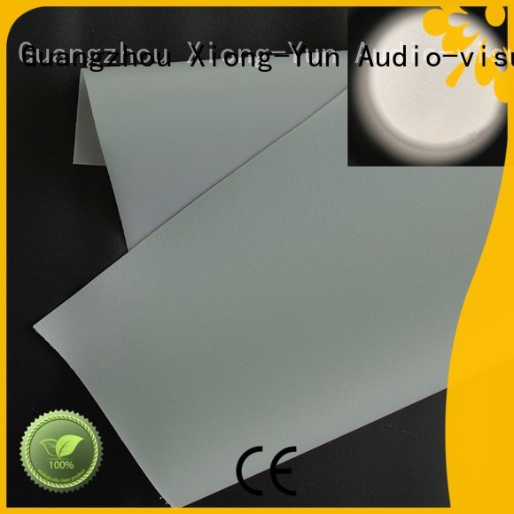 Custom rear projector screen fabric side Front and rear portable projector screen