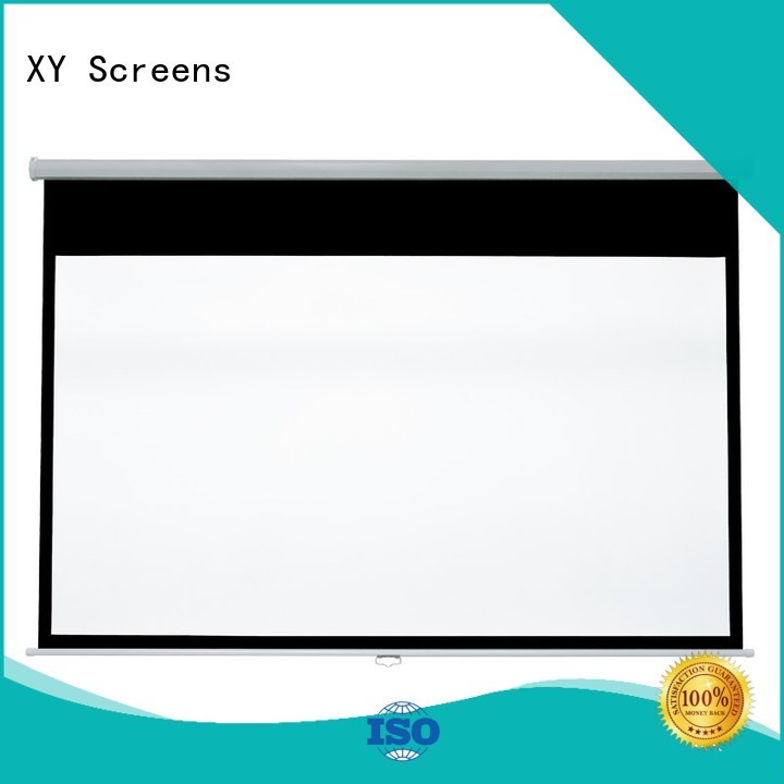 Quality XY Screens Brand pull down rear projection screen school