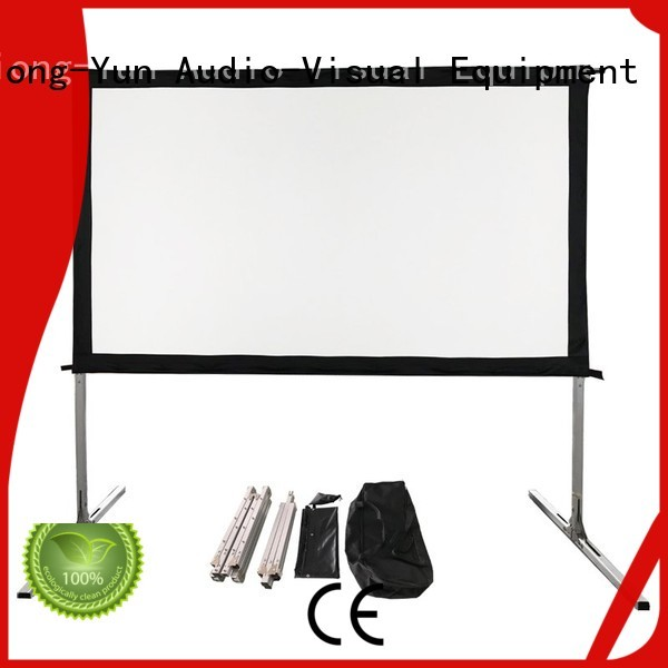retractable outdoor projector screen wholesale for square