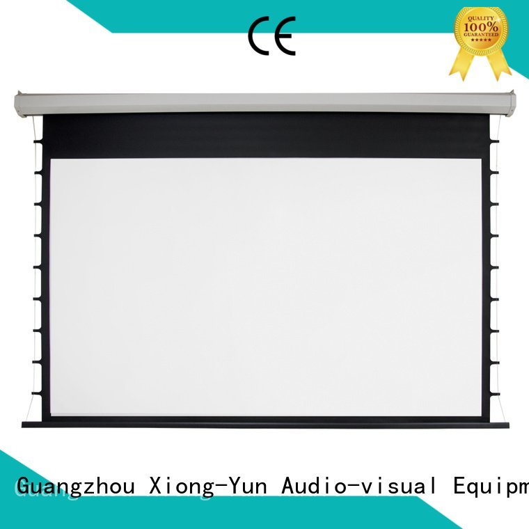 OEM Electric Drop Down Movie Screen projector inch movie Motorized Retractable Projector Screen