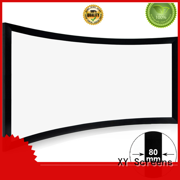 XY Screens curved curved projector screen personalized for home cinema