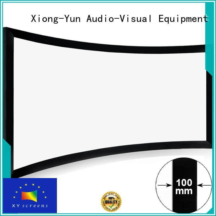 XY Screens Brand curved series widescreen home cinema projector