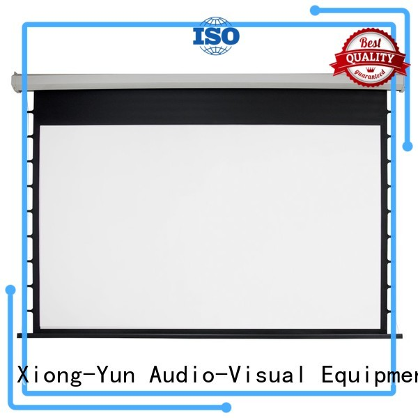 XY Screens curved motorized projector screen personalized for indoors
