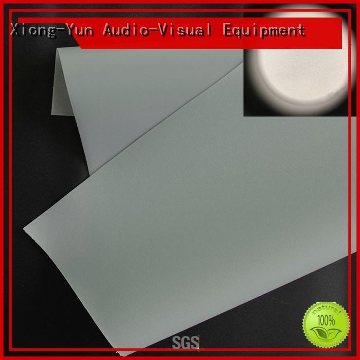 XY Screens Brand pvc rear dp1 projector screen fabric