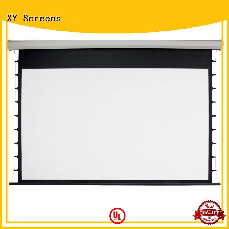 Electric Drop Down Movie Screen down hd OEM Motorized Retractable Projector Screen XY Screens