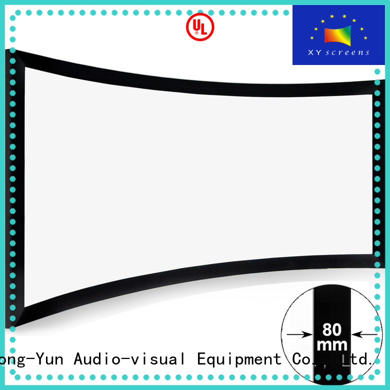 XY Screens curved projector screen personalized for household