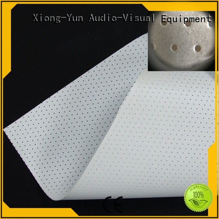 XY Screens acoustically transparent screen material customized for motorized projection screen