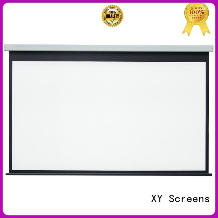 XY Screens motorized projector screen factory price for theater
