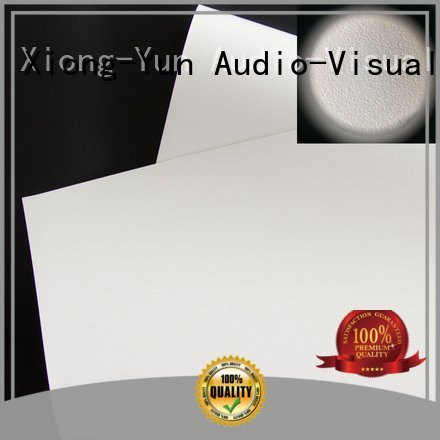 Quality HD home theater projection screens with soft PVC fabric XY Screens Brand wg1 front and rear fabric