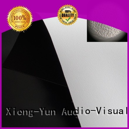 XY Screens Brand pvc hard flexible HD home theater projection screens with soft PVC fabric silver