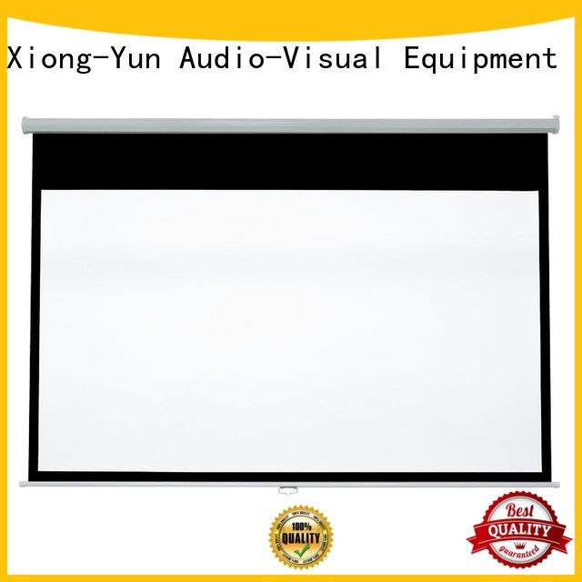 XY Screens coated sheet drop down projector screen design for students