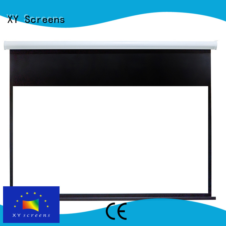 intelligent Motorized Projection Screen factory price for indoors