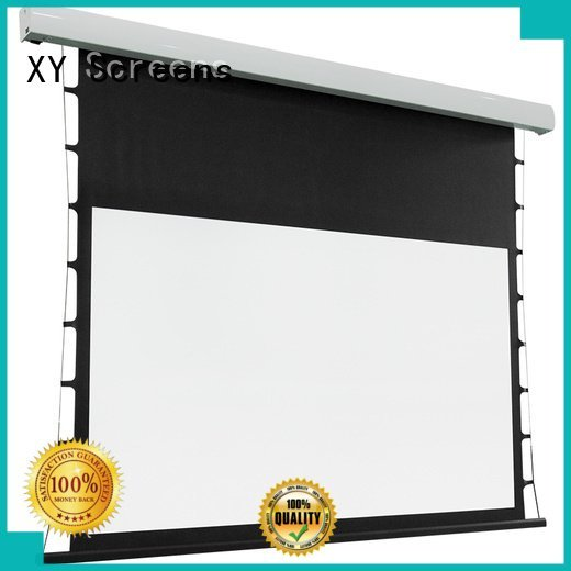 tab tensioned electric projector screen intelligent Tab tensioned series motorized