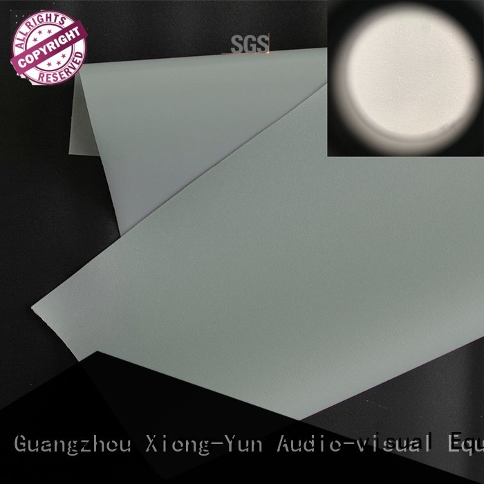 XY Screens rear projection fabric design for fixed frame projection screen