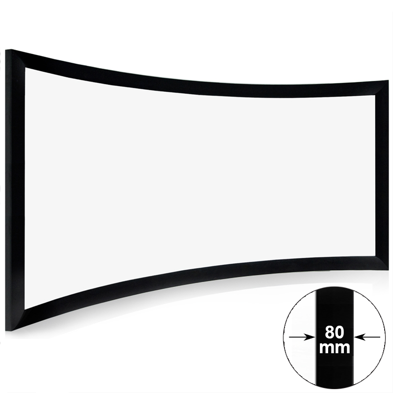 XY Screens HD Home Theater Curved Frame Projector Screen CHK80B Series Home Entertainment Curved Projector Screens image17