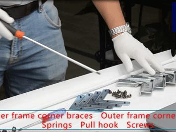 Ultra thin Bezel Frame Projection Screen Installation steps