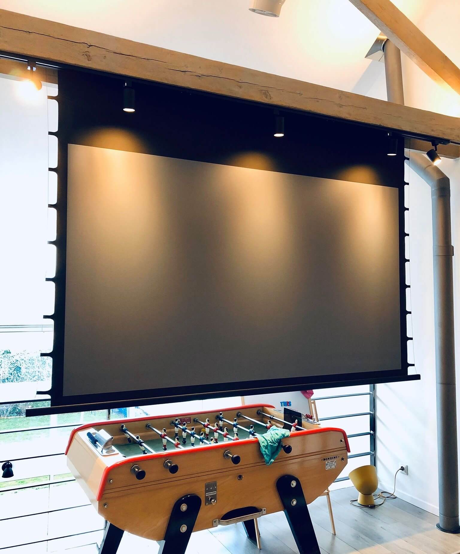 news-XY Screens-XYscreens EC2 motorized tab tension projector screen with Black Crystal-Bring you ma