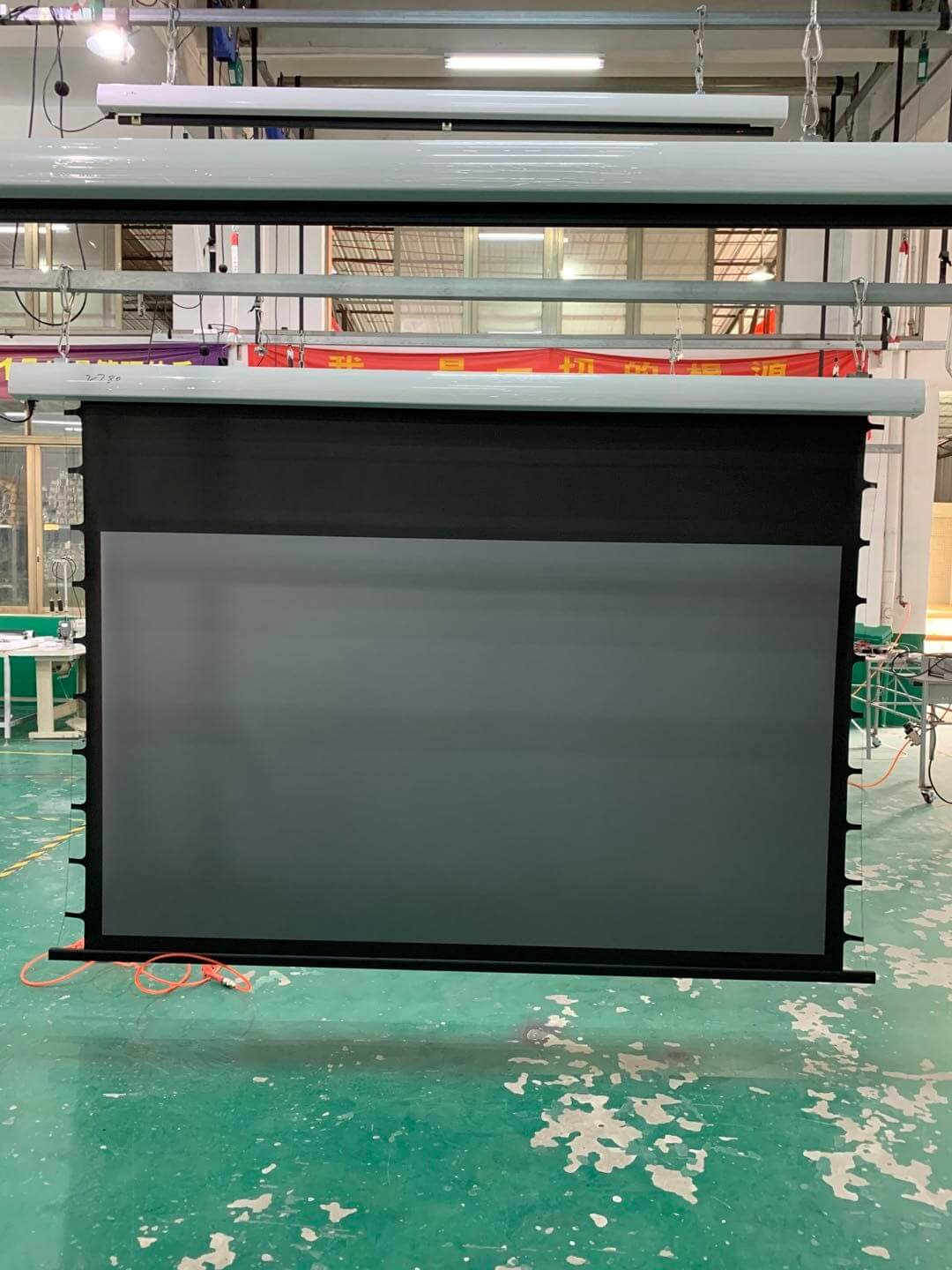 news-XY Screens-XYscreens EC2 motorized tab tension projector screen with Black Crystal-Bring you ma-1