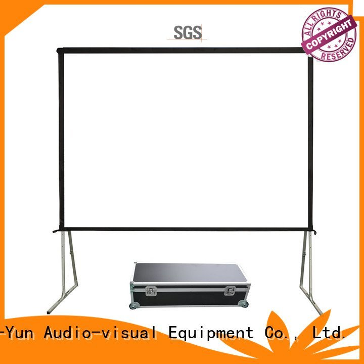 outdoor carry folding fast XY Screens outdoor pull down projector screen