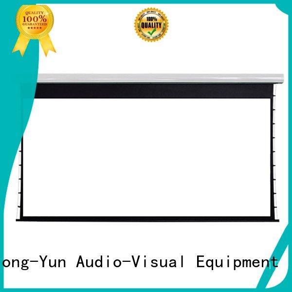 XY Screens ec150 motorized large portable projector screen