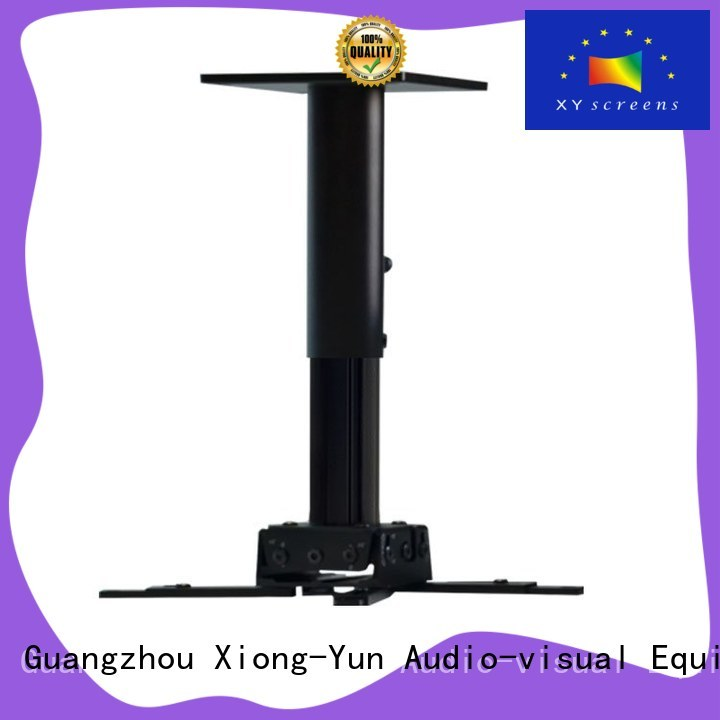 XY Screens fast folding projector mount customized for television