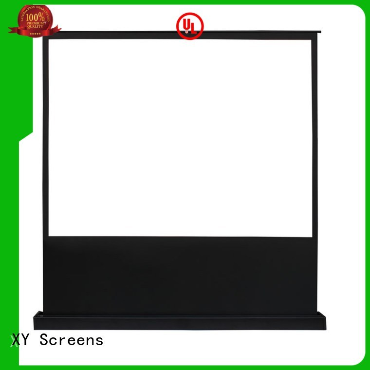 white portable pull up projector screen factory for household