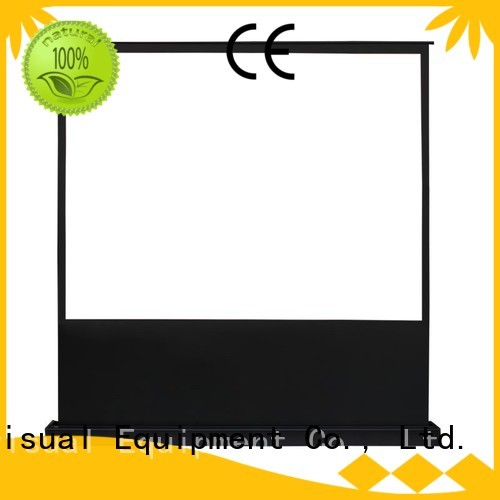 XY Screens Brand floor rising dlpu pull up projector screen 16 9