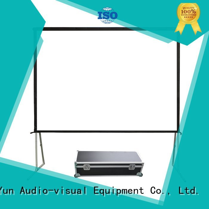 OEM outdoor pull down projector screen fold 80400 80135 outdoor projector screen