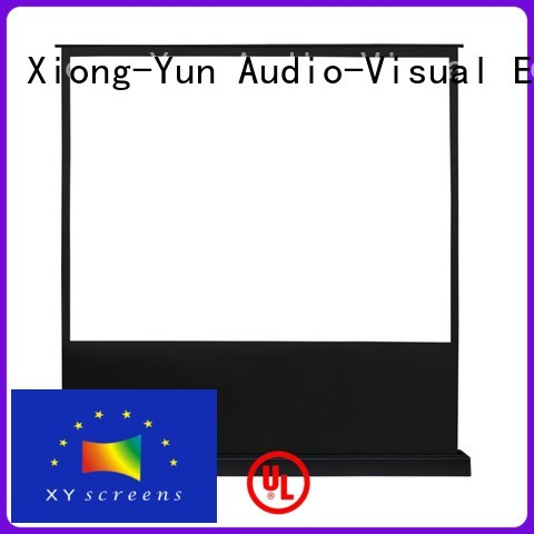 XY Screens rising pull up projector screen factory for household