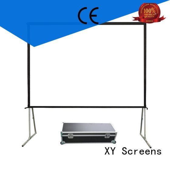fold outdoor projector screen XY Screens outdoor pull down projector screen