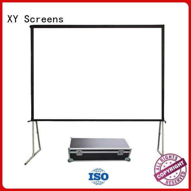 outdoor fast folding ff1 outdoor pull down projector screen XY Screens Brand