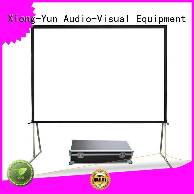outdoor pull down projector screen ff1 folding XY Screens Brand