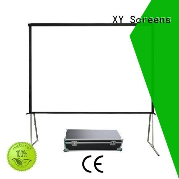 outdoor pull down projector screen XY Screens Brand outdoor projector screen